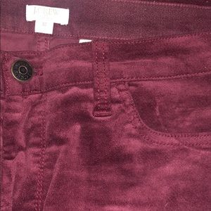 Maroon soft skinny pants